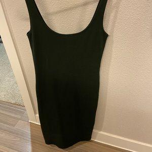 Deep dark green dress-comes down to upper calf